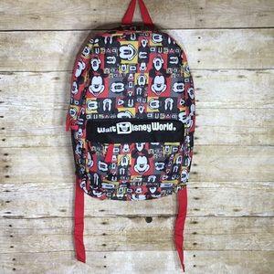 Disney World pop art Mickey Mouse backpack EUC